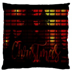 Christmas Advent Gloss Sparkle Large Cushion Case (one Side) by Nexatart
