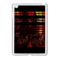 Christmas Advent Gloss Sparkle Apple Ipad Mini Case (white) by Nexatart