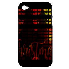 Christmas Advent Gloss Sparkle Apple Iphone 4/4s Hardshell Case (pc+silicone) by Nexatart