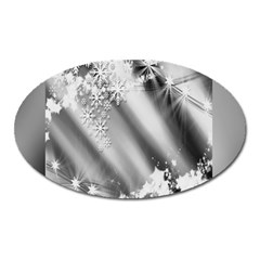 Christmas Background  Oval Magnet by Nexatart