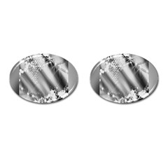 Christmas Background  Cufflinks (oval) by Nexatart