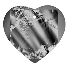 Christmas Background  Heart Ornament (two Sides)