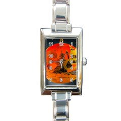 Christmas Bauble Rectangle Italian Charm Watch by Nexatart