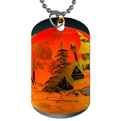 Christmas Bauble Dog Tag (one Side) by Nexatart