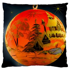 Christmas Bauble Large Flano Cushion Case (two Sides) by Nexatart