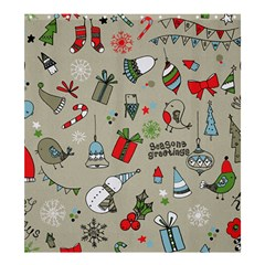 Christmas Xmas Pattern Shower Curtain 66  X 72  (large)  by Nexatart
