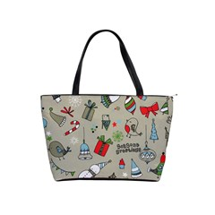 Christmas Xmas Pattern Shoulder Handbags by Nexatart