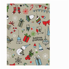 Christmas Xmas Pattern Small Garden Flag (two Sides)