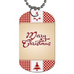 Christmas Xmas Patterns Pattern Dog Tag (one Side) by Nexatart