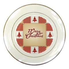 Christmas Xmas Patterns Pattern Porcelain Plates