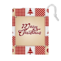 Christmas Xmas Patterns Pattern Drawstring Pouches (extra Large)