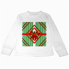 Christmas Gift Wrap Decoration Red Kids Long Sleeve T Shirts