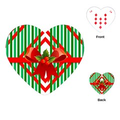 Christmas Gift Wrap Decoration Red Playing Cards (heart)