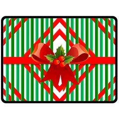 Christmas Gift Wrap Decoration Red Double Sided Fleece Blanket (large)  by Nexatart