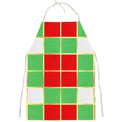 Christmas Fabric Textile Red Green Full Print Aprons by Nexatart