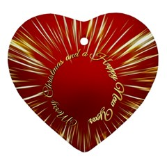 Christmas Greeting Card Star Ornament (heart) by Nexatart