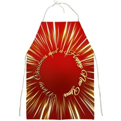 Christmas Greeting Card Star Full Print Aprons by Nexatart