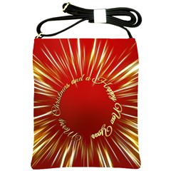 Christmas Greeting Card Star Shoulder Sling Bags