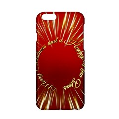 Christmas Greeting Card Star Apple Iphone 6/6s Hardshell Case by Nexatart