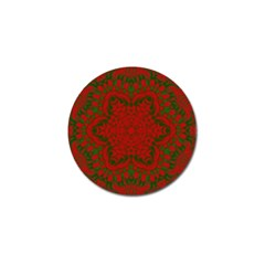 Christmas Kaleidoscope Art Pattern Golf Ball Marker (4 Pack) by Nexatart