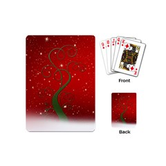 Christmas Modern Day Snow Star Red Playing Cards (mini)  by Nexatart