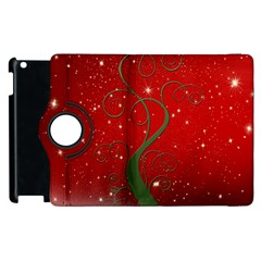 Christmas Modern Day Snow Star Red Apple Ipad 3/4 Flip 360 Case
