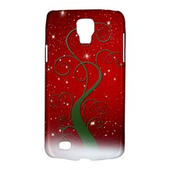 Christmas Modern Day Snow Star Red Galaxy S4 Active by Nexatart