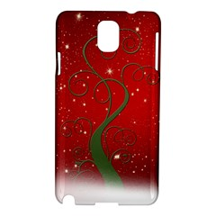 Christmas Modern Day Snow Star Red Samsung Galaxy Note 3 N9005 Hardshell Case by Nexatart