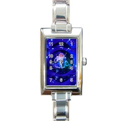 Christmas Nicholas Ball Rectangle Italian Charm Watch