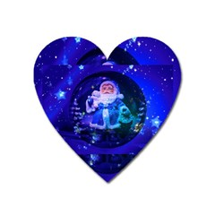 Christmas Nicholas Ball Heart Magnet by Nexatart