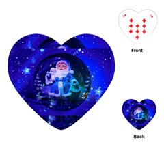 Christmas Nicholas Ball Playing Cards (heart)  by Nexatart
