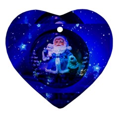Christmas Nicholas Ball Heart Ornament (two Sides) by Nexatart