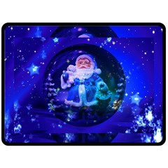 Christmas Nicholas Ball Fleece Blanket (large)  by Nexatart