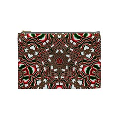 Christmas Kaleidoscope Cosmetic Bag (medium)  by Nexatart