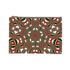 Christmas Kaleidoscope Cosmetic Bag (large)  by Nexatart