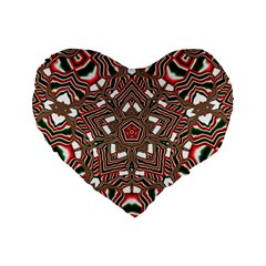 Christmas Kaleidoscope Standard 16  Premium Heart Shape Cushions by Nexatart