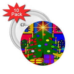 Christmas Ornaments Advent Ball 2 25  Buttons (10 Pack)