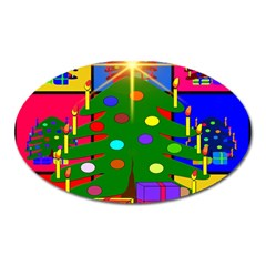 Christmas Ornaments Advent Ball Oval Magnet by Nexatart