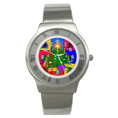 Christmas Ornaments Advent Ball Stainless Steel Watch
