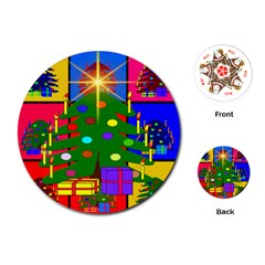 Christmas Ornaments Advent Ball Playing Cards (round)  by Nexatart