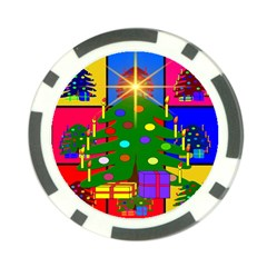 Christmas Ornaments Advent Ball Poker Chip Card Guard by Nexatart