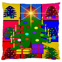 Christmas Ornaments Advent Ball Large Cushion Case (one Side) by Nexatart