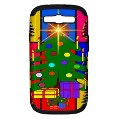 Christmas Ornaments Advent Ball Samsung Galaxy S Iii Hardshell Case (pc+silicone) by Nexatart