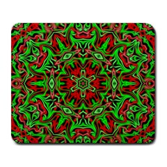 Christmas Kaleidoscope Pattern Large Mousepads