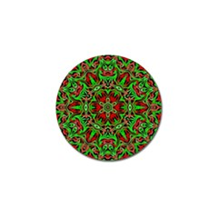 Christmas Kaleidoscope Pattern Golf Ball Marker (4 Pack) by Nexatart
