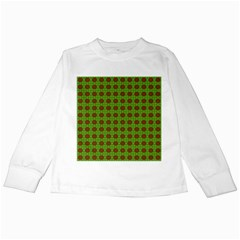 Christmas Paper Wrapping Patterns Kids Long Sleeve T Shirts