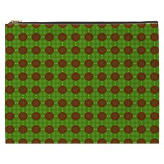 Christmas Paper Wrapping Patterns Cosmetic Bag (xxxl)  by Nexatart