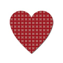 Christmas Paper Pattern Heart Magnet by Nexatart