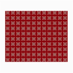 Christmas Paper Pattern Small Glasses Cloth (2 Side)