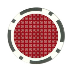 Christmas Paper Pattern Poker Chip Card Guard by Nexatart